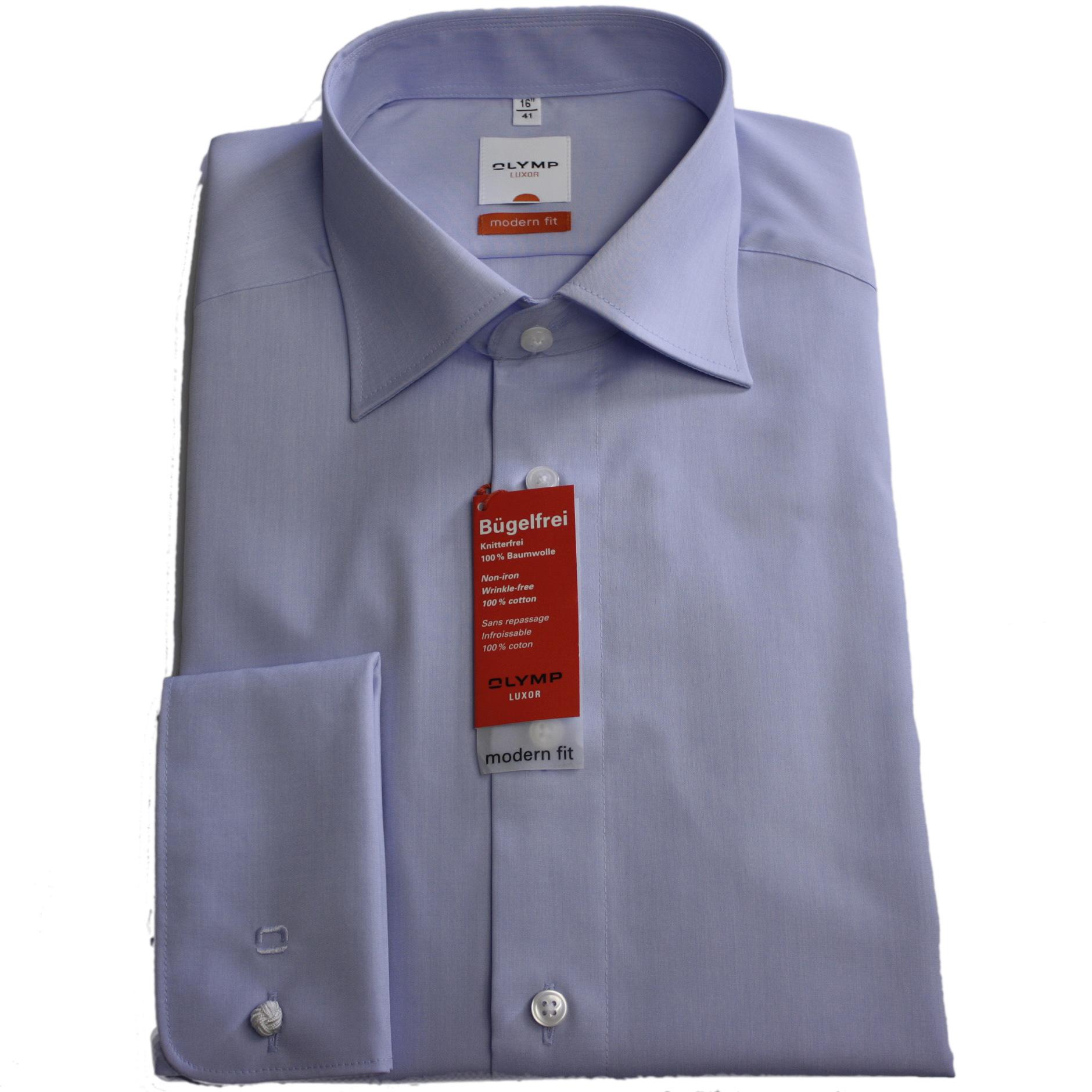 best cheap ea04e df78a Olymp Luxor Hemd, Umschlagmanschette, modern fit, hellblau